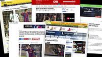 Fotomontagem com a capa de diversos jornais espanhóis e internacionais.
