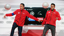 Adriano and Rafinha had great fun, and all thanks to Audi / PHOTO: MIGUEL RUIZ - FCB