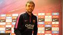 Luis Enrique was speaking at a press conference ahead of the trip to Mestalla / PHOTO: MIGUEL RUIZ - FCB
