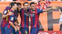 L'equip celebra un gol aquesta temporada / FOTO: ARXIU FCB