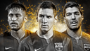 Neymar, Messi and Luis Suárez, nominated as best strikers / FIFA