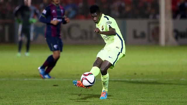 Edgar Ié made his official debut in Huesca / PHOTO: MIGUEL RUIZ-FCB