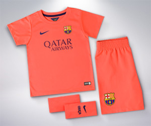 2ème tenue du FC Barcelona pour enfant