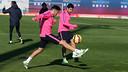 Luis Suárez et Munir, pendant l'entrainement / PHOTO: MIGUEL RUIZ-FCB