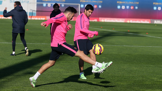 Luis Suárez and Munir were among the players that trained on Friday / PHOTO: MIGUEL RUIZ-FCB