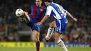 Xavi Hernández has an excellent record against Espanyol / PHOTO: MIGUEL RUIZ - FCB