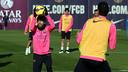 Jordi Alba lors du dernier entrainement / PHOTO: MIGUEL RUIZ - FCB