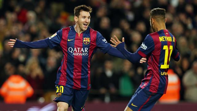 Leo Messi got yet another hat trick in Barça's derby win over Espanyol / PHOTO: MIGUEL RUIZ - FCB