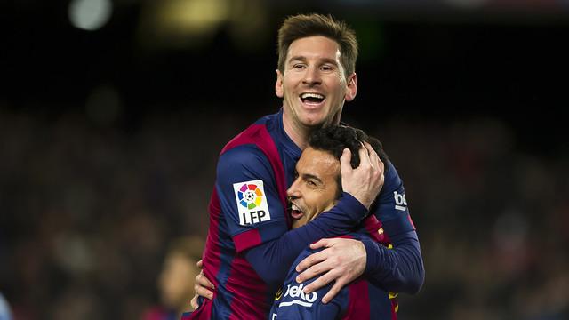Leo Messi has scored an amazing three hat-tricks in four games / PHOTO: MIGUEL RUIZ - FCB