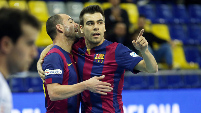El Barça de futbol sala se ha clasificado por quinto año consecutivo para las semifinales de la Copa del Rey