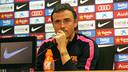 Luis Enrique in the press room ahead of the trip to Getafe / PHOTO: MIGUEL RUIZ - FCB
