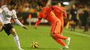 Luis Suárez helped Barça to a win on their last away trip to Mestalla / PHOTO: MIGUEL RUIZ - FCB
