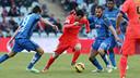 Messi hit the crossbar against Getafe. PHOTO: MIGUEL RUIZ-FCB.