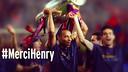 Thierry Henry, levantando la Liga de Campeones / FOTOMONTAJE FCB