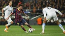 Messi during the match against City of last season / FCB-LEA WEIL