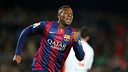 Adama Traoré scored his first Barça goal in Tuesday night's 8-1 win over Huesca at Camp Nou / PHOTO: MIGUEL RUIZ - FCB