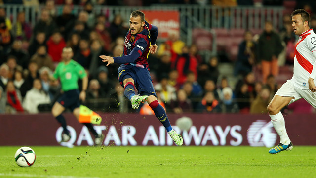 Sandro scored against Huesca on Tuesday night / PHOTO: MIGUEL RUIZ-FCB