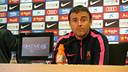 Luis Enrique at the press conference on Friday. PHOTO: MIGUEL RUIZ-FCB.