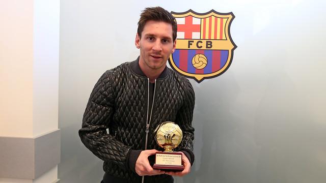 Messi receive 2013 IFFHS award / PHOTO: MIGUEL RUIZ - FCB