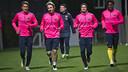 Barça B return to work after the Christmas break / PHOTO: VÍCTOR SALGADO - FCB