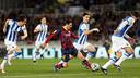 Messi, contre la Real Sociedad / Photo Miguel Ruiz