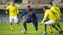 Adama Traoré buscará encontrar un hueco en la defensa canaria / FOTO: VÍCTOR SALGADO - FCB