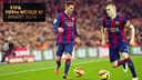 Messi i Iniesta, entre els escollits. FOTOMUNTATGE FCB
