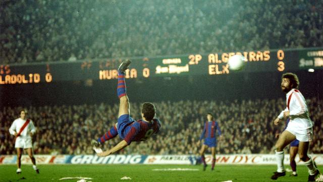 Krankl va marcar cinc gols el 14 de gener de 1979 al Rayo Vallecano al Camp Nou