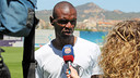 Éric Abidal talking to Barça TV in an archive photo / PHOTO: MIGUEL RUIZ-FCB.