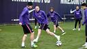 Mathieu, pendant un entrainement / PHOTO: ARXIU FCB