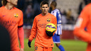 Leo Messi took the match ball home at Riazor following his 30th hat-trick / PHOTO: MIGUEL RUIZ - FCB