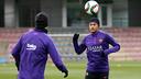 Neymar Jr, durante el entrenamiento de este martes / FOTO: MIGUEL RUIZ-FCB