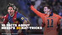 Messi's hat-tricks / FCB