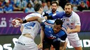 Sorhaindo en una acción de juego ante Islandia / FOTO:Qatar Handball 2015