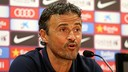 Luis Enrique is especially concerned about Atlético's strength at set pieces / PHOTO: FCB Archive
