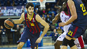 Àlex Abrines was top scorer against Crvena / PHOTO: VÍCTOR SALGADO - FCB