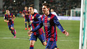 Messi setelah mencetak gol