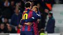 Messi et Neymar laissent exploser leur joie après un des six buts à Elche / PHOTO: MIGUEL RUIZ-FCB