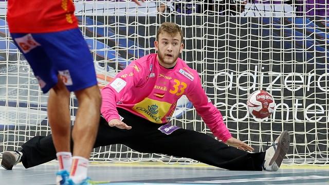 Gonzalo Pérez de Vargas, referent a la porteria /FOTO: Qatar Handball 2015