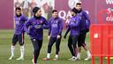 Les joueurs, mardi. PHOTO: MIGUEL RUIZ-FCB.