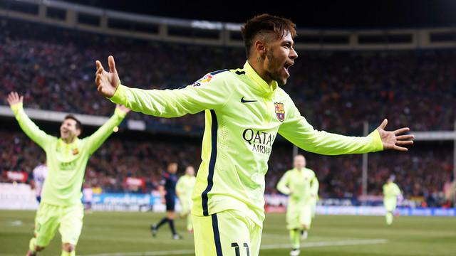 Neymar Jr, en el moment del 2-3 / FOTO: MIGUEL RUIZ-FCB