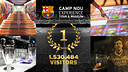 The Camp Nou Experience received 1,530,484 visitors in 2014