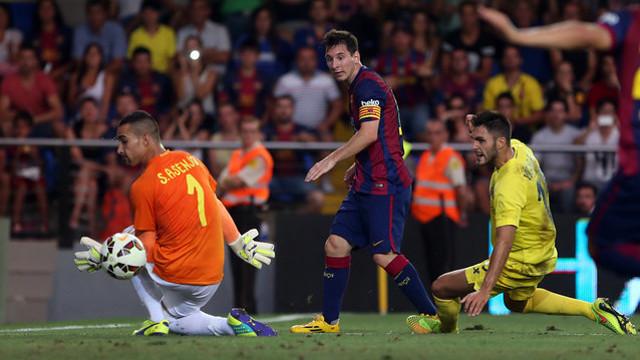 Leo Messi in this season's first game against Villarreal. / PHOTO: MIGUEL RUIZ - FCB