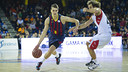 Mario Hezonja claimed an impeccable 8/8 in 3-pointers / PHOTO: VÍCTOR SALGADO - FCB