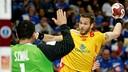 Víctor Tomás, en una imagen del partido ante Polonia / FOTO: Qatar Handball 2015