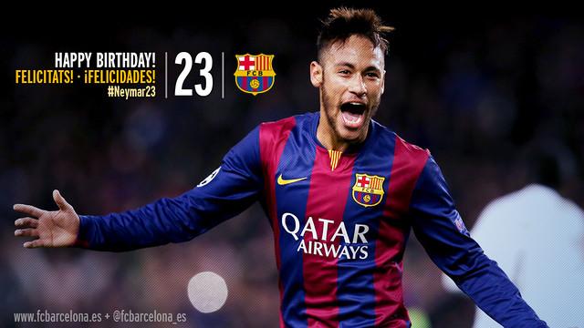 Design gambar Neymar saat merayakan golnya