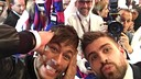 Neymar and Gerard Piqué were representing the club in Doha / PHOTO: FCB