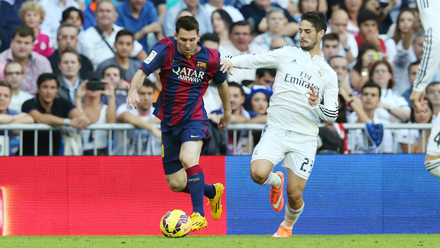 Messi and Isco: Barça will be looking to avenge defeat at the Bernabéu / MIGUEL RUIZ-FCB.