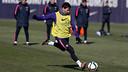 Leo Messi during the training session / MIGUEL RUIZ - FCB