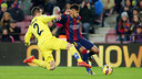 Neymar controls the ball in last week's league match between Barça and Villarreal / MIGUEL RUIZ - FCB